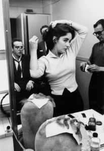 """""""Raintree County""""Elizabeth Taylor in make-upwith Bill Tuttle (left w/ Glasses)1957 © 1978 Bob Willoughby - Image 3678_0013"""