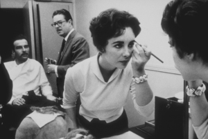 """Raintree County""Elizabeth Taylor and Montgomery Clift in make-up room1956 © 1978 Bob WilloughbyMPTV - Image 3678_0018"