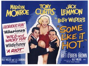 """Some Like It Hot"" (British Poster)1959 MGM** I.V. - Image 3733_0154"
