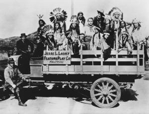 """The Squaw Man""Cecil B. DeMille, Dustin Farnum, Dick La Reno, Princess Red Wing (aka Lillian St. Cyr) 1914 Jesse L. Lasky Feature Play Company** R.C. - Image 3745_0025"