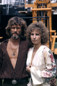"""Kris Kristofferson and Barbra Streisand on the set of """"A Star Is Born""""1976 Warner Bros.** B.D.M. - Image 3746_0023"""
