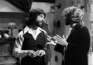 """Jon Peters and Kris Kristofferson on the set of """"A Star Is Born""""1976 Warner Bros.** B.D.M. - Image 3746_0026"""