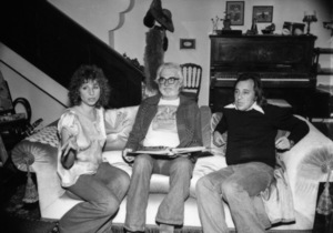"""Barbra Streisand, director Frank Pierson and Paul Mazursky on the set of """"A Star Is Born""""1976 Warner Bros.** B.D.M. - Image 3746_0027"""