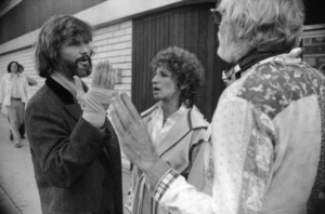 """Kris Kristofferson, Barbra Streisand and director Frank Pierson on the set of """"A Star Is Born""""1976 Warner Bros.** B.D.M. - Image 3746_0028"""