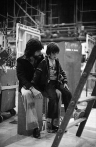 """Jon Peters and his son, Christopher Peters, on the set of """"A Star Is Born""""1976 Warner Bros.** B.D.M. - Image 3746_0033"""