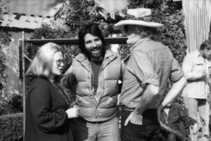 "Sue Mengers, Jon Peters and director Frank Pierson on the set of ""A Star Is Born""1976 Warner Bros.** B.D.M. - Image 3746_0039"