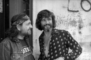 """Willie Nelson visits Kris Kristofferson on the set of """"A Star Is Born""""1976 Warner Bros.** B.D.M. - Image 3746_0041"""