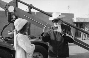 """Barbra Streisand and director Frank Pierson on the set of """"A Star Is Born""""1976 Warner Bros.** B.D.M. - Image 3746_0043"""