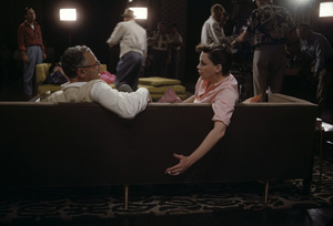 """""""A Star Is Born"""" Director George Cukor, Judy Garland 1954 © 1978 Bob Willoughby - Image 3747_0177"""