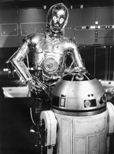 """""""Star Wars"""" Anthony Daniels with R2-D21977 Lucasfilm© 1978 John Jay - Image 3748_0167"""