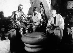 """Star Wars""Anthony Daniels, Mark Hamill, Alec Guinness1977 LucasfilmPhoto by John Jay - Image 3748_0175"