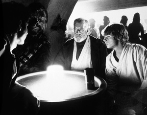 """Star Wars""Harrison Ford, Peter Mayhew, Alec Guinness, Mark Hamill1977 LucasfilmPhoto by John Jay - Image 3748_0206"