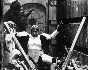 """""""Star Wars"""" Harrison Ford, Carrie Fisher and Peter Mayhew1977 Lucasfilm© 1978 John Jay - Image 3748_0211"""