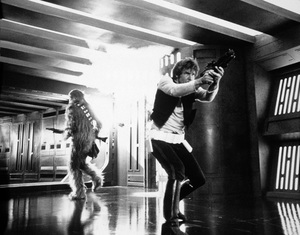 """Star Wars""Peter Mayhew, Harrison Ford1977 LucasfilmPhoto by John Jay - Image 3748_0212"