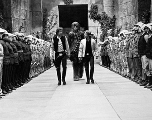 """Star Wars""Harrison Ford, Peter Mayhew, Mark Hamill1977 LucasfilmPhoto by John Jay - Image 3748_0219"