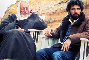 """Star Wars""Alec Guinness, George Lucas1977 20th Century Fox** I.V. - Image 3748_223"