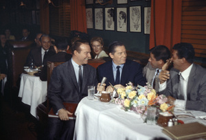 """This Is Your Life""Ralph Edwards, Milton Berle, Jerry Lewis and Dean Martin at the Brown Derby1956Photo by Gerald Smith - Image 3774_0007"