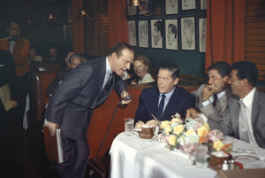 """This Is Your Life""Ralph Edwards, Milton Berle, Jerry Lewis and Dean Martin at the Brown Derby1956Photo by Gerald Smith - Image 3774_0008"