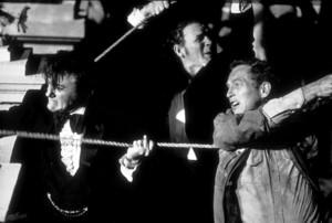 "Paul Newman and Robert Vaughn in ""The Towering Inferno.""1974 Warner - Image 3784_0021"