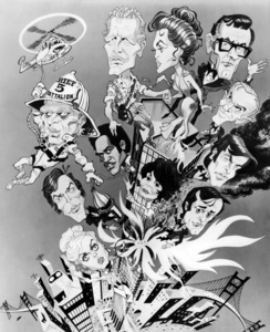 "Caricature of the cast of ""The Towering Inferno""1974 20th Century-Fox** B.D.M. - Image 3784_0122"