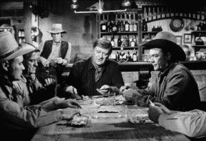 """The Train Robbers,"" Warner Bros. 1973.Bobby Vinton, John Wayne, and Ben Johnson. © 1978 David Sutton - Image 3785_0136"