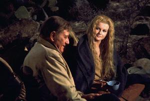 """The Train Robbers,"" Warner Bros. 1973.John Wayne and Ann-Margret. © 1978 David Sutton - Image 3785_0160"