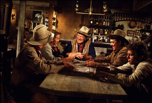 """The Train Robbers,"" Warner Bros. 1973.Rod Taylor, John Wayne, and Ben Johnson. © 1978 David Sutton - Image 3785_0168"