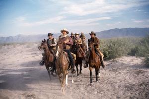 """The Train Robbers"" Rod Taylor, John Wayne, Bobby Vinton, Ann-Margret, Ben Johnson1973© 1978 David Sutton - Image 3785_0185"