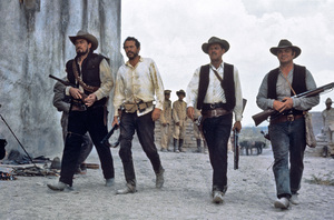 """The Wild Bunch""Ben Johnson, Warren Oates, William Holden, Ernest Borgnine1969 Warner BrothersPhoto by Bernie Abramson - Image 3820_0218"