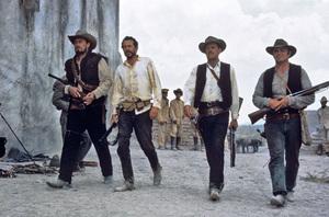 """""""The Wild Bunch""""Ben Johnson, Warren Oates, William Holden, Ernest Borgnine1969 Warner BrothersPhoto by Bernie Abramson - Image 3820_0218"""