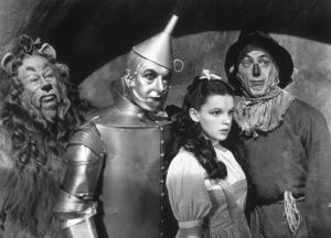 Bert Lahr, Jack Haley, Judy Garland, Ray BolgerFilm SetWizard Of Oz, The (1939)0032138MGM - Image 3823_0007