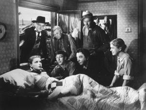 Judy Garland, Ray Bolger, Jack Haley, Clara Blandick,Charley Grapewin, Bert Lahr. Film SetWizard Of Oz, The (1939)0032138MGM - Image 3823_0019