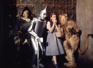 Ray Bolger, Jack Haley, Judy Garland, Bert LahrFilm SetWizard Of Oz, The (1939)0032138MGM - Image 3823_0025