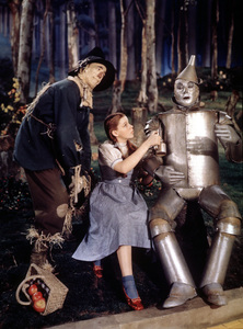 Ray Bolger, Judy Garland, Jack HaleyFilm SetWizard Of Oz, The (1939)0032138MGM - Image 3823_0029
