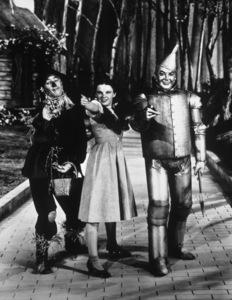 """The Wizard of Oz""Ray Bolger, Judy Garland, Jack Haley1939 MGM - Image 3823_0030"