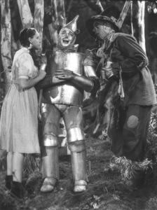 Judy Garland, Jack Haley, Ray BolgerFilm SetWizard Of Oz, The (1939)0032138MGM - Image 3823_0031