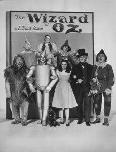Bert Lahr, Jack Haley, Judy Garland, Frank Morgan, Ray Bolger.  Wizard Of Oz, The (1939)0032138MGM - Image 3823_0049