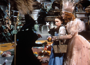"""The Wizard of Oz""Margaret Hamilton, Judy Garland, Billie Burke1939 MGM - Image 3823_0117"