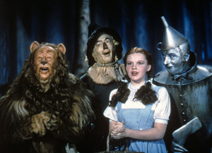 """The Wizard of Oz""Bert Lahr, Ray Bolger, Judy Garland, Jack Haley1939 MGM - Image 3823_0119"