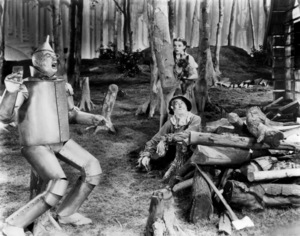 """""""The Wizard of Oz""""Jack Haley, Judy Garland, Terry the dog, Ray Bolger1939 MGM - Image 3823_0158"""