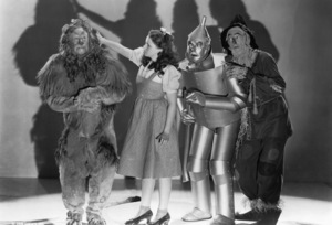 """""""The Wizard of Oz""""Bert Lahr, Judy Garland, Jack Haley, Ray Bolger1939 MGM - Image 3823_0160"""