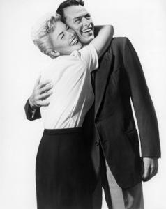 "Doris Day and Frank Sinatra in artwork for ""Young At Heart"" 1954 Warner Bros. ** I.V."