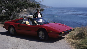 CarsSid Avery with his 1982 Ferrari 308 GTS / Big Sur, Ca / July 1982© 1982 Ron Avery - Image 3846_0299