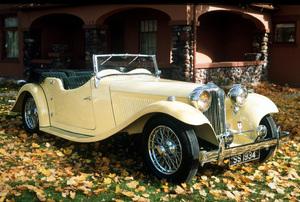 Car Category1934 Jaguar SS-1 TourerOwner Stanley & Jay Wanlass © 1994 Glenn EmbreeMPTV - Image 3846_0438