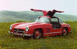 Car Category1955 Mercedes Benz 300 SLOwner Hyram Pingree © 1983 Glenn EmbreeMPTV - Image 3846_0448_03