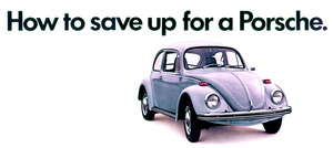 "Cars VW Out Door Bill Board ""How to save up for a Porsche"" 1971 © 1978 Sid Avery - Image 3846_0522"