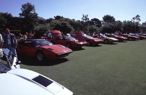 Cars2000 Concorso Italiano Monterey, CAA fleet of Ferrari 308