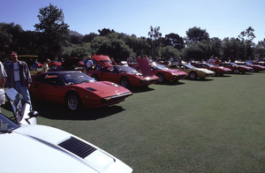 Cars2000 Concorso Italiano Monterey, CAA fleet of Ferrari 308