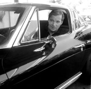 Stars & CarsWilliam Shatner at home in Los Angeles C.A.in his 1963 split window Corvette1966 © 1978 Joe Shere - Image 3846_0575