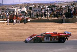 Cars1970 Ferrari 512 S Driver Sam Posey,at Riverside Raceway Nov 1973 © 1978 Ron Avery - Image 3846_0886